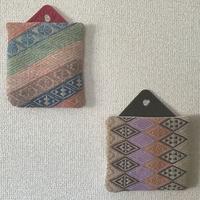 鍋つかみ&鍋敷き - 手編みバッグと南部菱刺し『グルグルと菱』