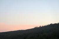 久しぶりに晴れた夕空と白い月 - イタリア写真草子 Fotoblog da Perugia