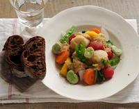 チョコパンと春野菜サラダ - My Sweet Diary