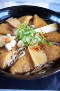 ■昼・麺類【竹の子とカリッと分厚い味付き油揚げ入りおそうめんで温麺】^^ - 「料理と趣味の部屋」