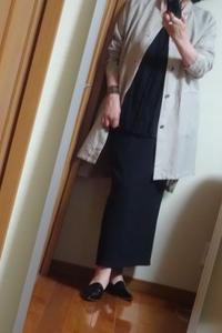 黒のロングスカートと麻のジャケット - おしゃれ自己満足日記