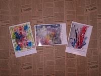 織月紅希のポストカードと陶芸作品搬入! - 織月紅希の真っ赤な月窯ギャラリー
