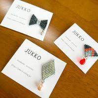 ビーズステッチのブローチ - JUKKO