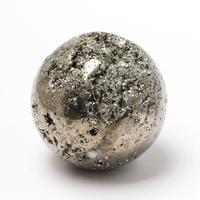 黄金に輝くパイライト丸玉 - すぐる石放題