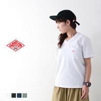 DANTON [ダントン] W's 空紡天竺 POCKET SOLID Vネック T [JD-9088] ポケットTシャツ・コットンTシャツ・Vネック・MEN'S - refalt blog