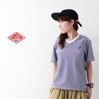 DANTON [ダントン] W's 空紡天竺 POCKET BORDER Vネック T [JD-9088] ポケットTシャツ・コットンTシャツ・Vネック・ボーダー・LADY'S - refalt blog