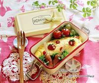 ケチャップはトマト形でオムライス弁当とバラ日記・ストロベリーアイス♪ - ☆Happy time☆