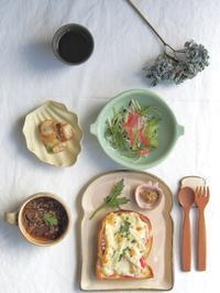 たけのこチーズトーストの朝ごはん - 陶器通販・益子焼 雑貨手作り陶器のサイトショップ 木のねのブログ