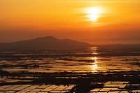 水田夕日 - デジタルで見ていた風景