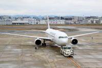 出張で福岡へ その6 JAL B767-300ERのプッシュバック - 南の島の飛行機日記