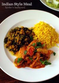 インドカレー風トマト&チキンの煮物とレンズ豆&ケールの煮物 - Kyoko's Backyard ~アメリカで田舎暮らし~