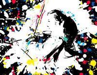 バイオリンを弾く人 - 筆一本あれば人生は楽し! -イラストレーター原田伸治-