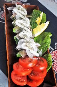 ■簡単5分おつまみ【菜園採りスナップエンドウの生ハム巻きオニスラクリチ乗せ】 - 「料理と趣味の部屋」