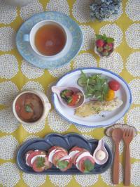 カプレーゼ朝ごはん - 陶器通販・益子焼 雑貨手作り陶器のサイトショップ 木のねのブログ