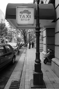 TAXI STOP - ON THE CORNER