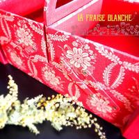 『スライドお道具箱』 - カルトナージュ教室 & ハンドクラフト教室 ~ La fraise blanche ~ ラ・フレーズ・ブロンシュ