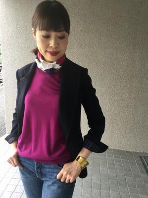 カシミヤニット・りえさん着画集⑧最終回 - madameHのバラ色の人生