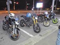 昨晩は4台でキモヨカ夜走りーーヽ(^。^)ノ - フロントロウのGPZ900Rニンジャ旋回性向上計画!
