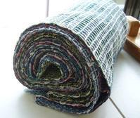 久留米絣糸でワッフル織り - テキスタイルスタジオ淑blog
