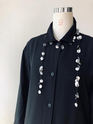着物リメイク・絽のお着物からシンプルシャツワンピ - harico couture
