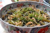 しみじみ地味滋味「山菜ばら寿司」 - 登志子のキッチン