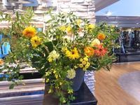 エニタイムフィットネスセンター赤羽北店様へ両手を広げて - 北赤羽花屋ソレイユの日々の花