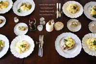 自家製ポークソーセージと菜園野菜のシュークルト。 - graine note*日々の香草・薬草帖