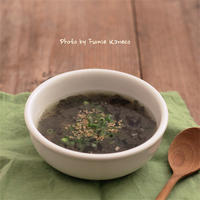 海苔とツナのスープ - ふみえ食堂  - a table to be full of happiness -