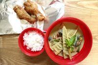 グリーンカレー弁当と頂き物 - オヤコベントウ