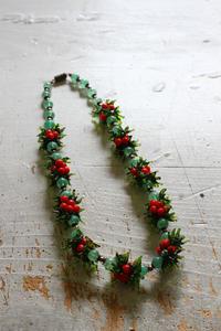 ヴィンテージガラスのネックレス - フェルタート(R)・オフフープ(R)立体刺繍作家PieniSieniのブログ