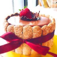 チョコのミルククラウンケーキ - 幸せなトカゲ    ~おもにケーキをつくってます