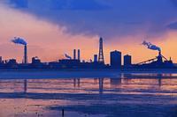 黄昏の工場地帯2019-05-25更新 - 夕陽に魅せられて・・・