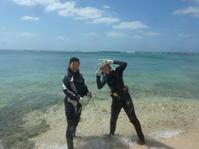 梅雨明けみたいな・・・・~大度海岸(ジョン万ビーチ)体験ダイビング~ - 沖縄本島最南端・糸満の水中世界をご案内!「海の遊び処 なかゆくい」