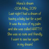 Hana's dream - 黒豆日記