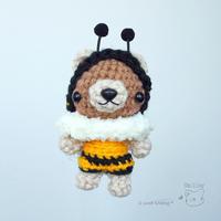 [みかづき工房さん] ハチさんくまちゃんと、コスプレセットを納品♪ - Smiling * Photo & Handmade 2 動物のあみぐるみ・レジンアクセサリー・風景写真のポストカード