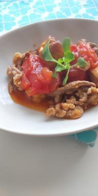 トマトと厚揚げのポン酢煮 - 料理研究家ブログ行長万里  日本全国 美味しい話