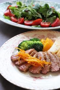 鴨のローストとオレンジソース添えのレクチャー会 - Rose ancient 神戸焼き菓子ギャラリー