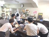 今日はフェイス実技試験でした - 千葉の香りの教室&香りの図書室 マロウズハウス