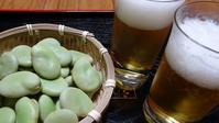 初物にはビール - ニット美津江・ダイアリー