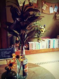 店の前の花や植木たち... - Cafe 風花<木曽・奈良井宿>