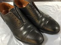乾燥した【J.M.WESTON】 - 池袋西武5F靴磨き・シューリペア工房