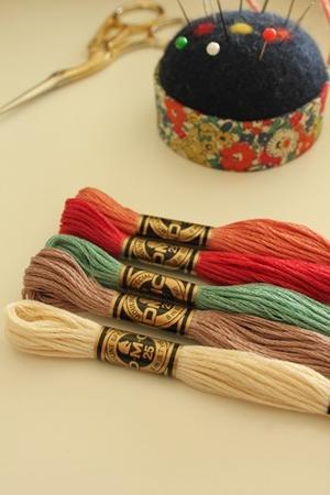 刺繍糸を選ぶとき -