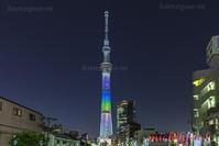 東京スカイツリー七周年記念ライトアップ - 風景写真家 鐘ヶ江道彦のフォトブログ