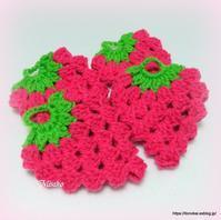 ピンク1玉編み終えました♫ - ルーマニアン・マクラメに魅せられて
