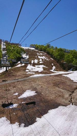2019年5月24日 かぐらスキー場の様子 - スノーボードが大好きっ!!~ snow life in 2018/2019~