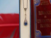 「魅力溢れる貴女に❤️」アンティークラヴァリエール・サファイア&ローズカットダイヤモンド・ネックレス - 欧州アンティーク・ジュエリー