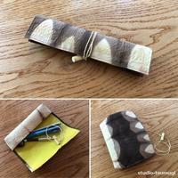 手漉き和紙のペンケース、作りました。 - スタジオ紡