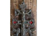 天使が運ぶ 伝説のカラバカクロス13.5cm  /G366 - Glicinia 古道具店