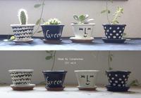 Painted Green Pot ☆ペンキで素焼きの鉢をペイント - Camphortreeの日常