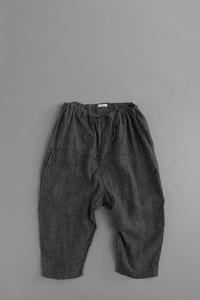 jujudhauDIAPER PANTS (BLACK × NATURAL CHECK) - un.regard.moderne